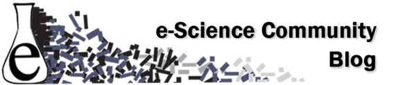 eScience Community Blog banner