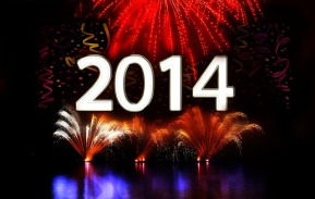 2014 with fireworks